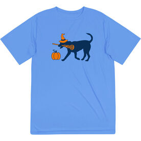 Girls Lacrosse Short Sleeve Performance Tee - Lula Witch Dog