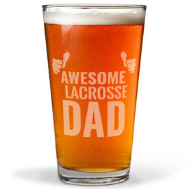 16 oz. Beer Pint Glass Awesome Lacrosse Dad