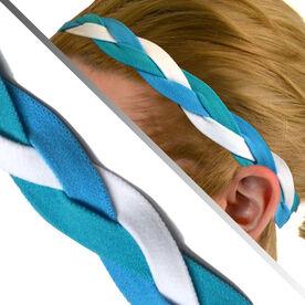 GripBand Headband - Teal Blue White