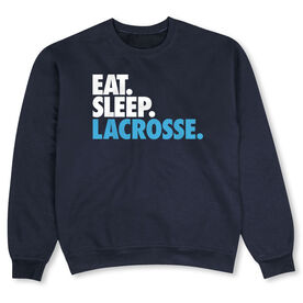 Lacrosse Crew Neck Sweatshirt - Eat Sleep Lacrosse (Bold)