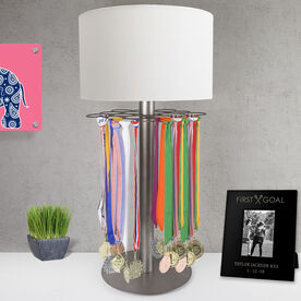 Girls Lacrosse Tabletop Medal Display Lamp