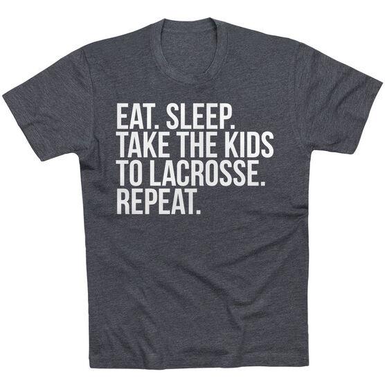 Lacrosse Short Sleeve T-Shirt - Eat Sleep Take The Kids To Lacrosse