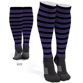 Printed Knee-High Socks - Spooky Stripes