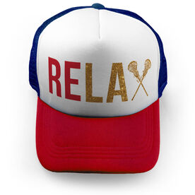 Girls Lacrosse Trucker Hat - Relax [Royal/Red] - SS