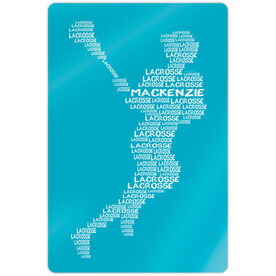 "Girls Lacrosse 18"" X 12"" Aluminum Room Sign - Personalized Words Girl"