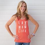 Girls Lacrosse Flowy Racerback Tank Top - Lax Mom Life