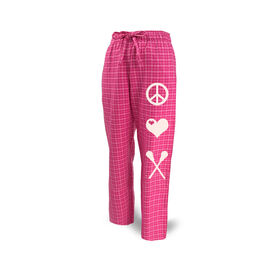 Lacrosse Lounge Pants Peace Love Lacrosse