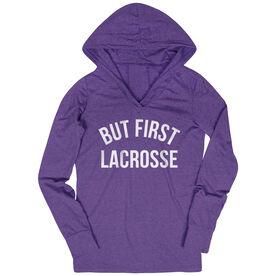 Lacrosse Lightweight Performance Hoodie - But First Lacrosse