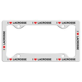 I LOVE LACROSSE License Plate Holder