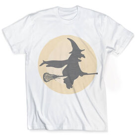 Vintage Lacrosse T-Shirt - Witch Riding Lacrosse Stick