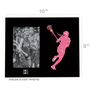 Girls Lacrosse Photo Frame - Player