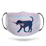 Girls Lacrosse Face Mask - LuLa the Lax Dog Chevron