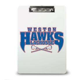 Lacrosse Custom Clipboard Lacrosse Your Logo