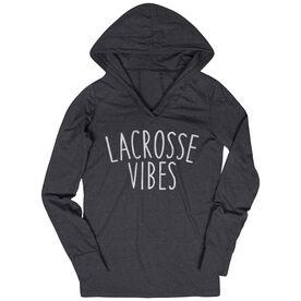 Girls Lacrosse Lightweight Performance Hoodie - Lacrosse Vibes