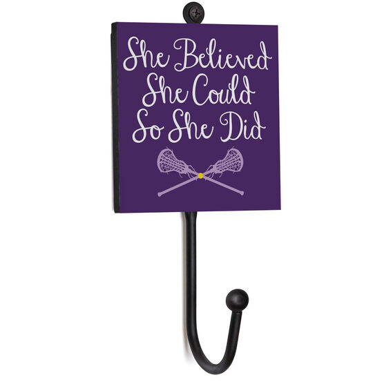 Girls Lacrosse Medal Hook - She Believed She Could So She Did