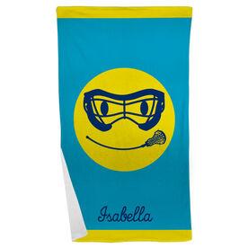 Lacrosse Beach Towel Smiley Face