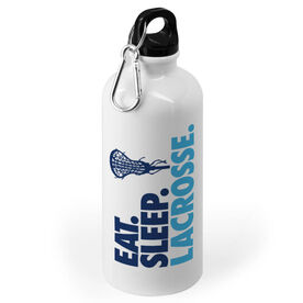Girls Lacrosse 20 oz. Stainless Steel Water Bottle - Eat Sleep Lacrosse