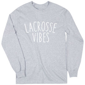 Girls Lacrosse Long Sleeve Tee - Lacrosse Vibes