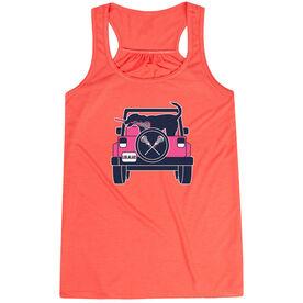 Girls Lacrosse Flowy Racerback Tank Top - Lax Cruiser