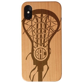 Girls Lacrosse Engraved Wood IPhone® Case - Monogrammed Lax Life