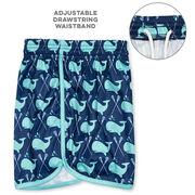 Whale Print Lacrosse Shorts