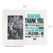 Girls Lacrosse Photo Frame - Dear Dad