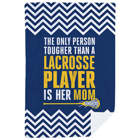 Girls Lacrosse Premium Blanket - Tougher Than A Lacrosse Player