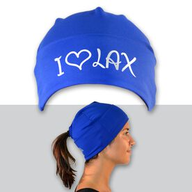 Performance Ponytail Cuff Hat I Heart Lax