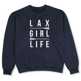 Girls Lacrosse Crew Neck Sweatshirt - LAX Girl Life