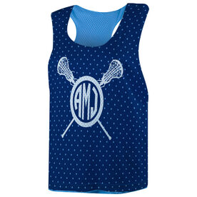 Girls Lacrosse Racerback Pinnie - Monogram Lacrosse Sticks