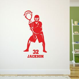 Lacrosse Removable ChalkTalkGraphix Wall Decal - Personalized Goalie