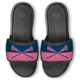 Girls Lacrosse Repwell™ Slide Sandals - Colorblock Sticks