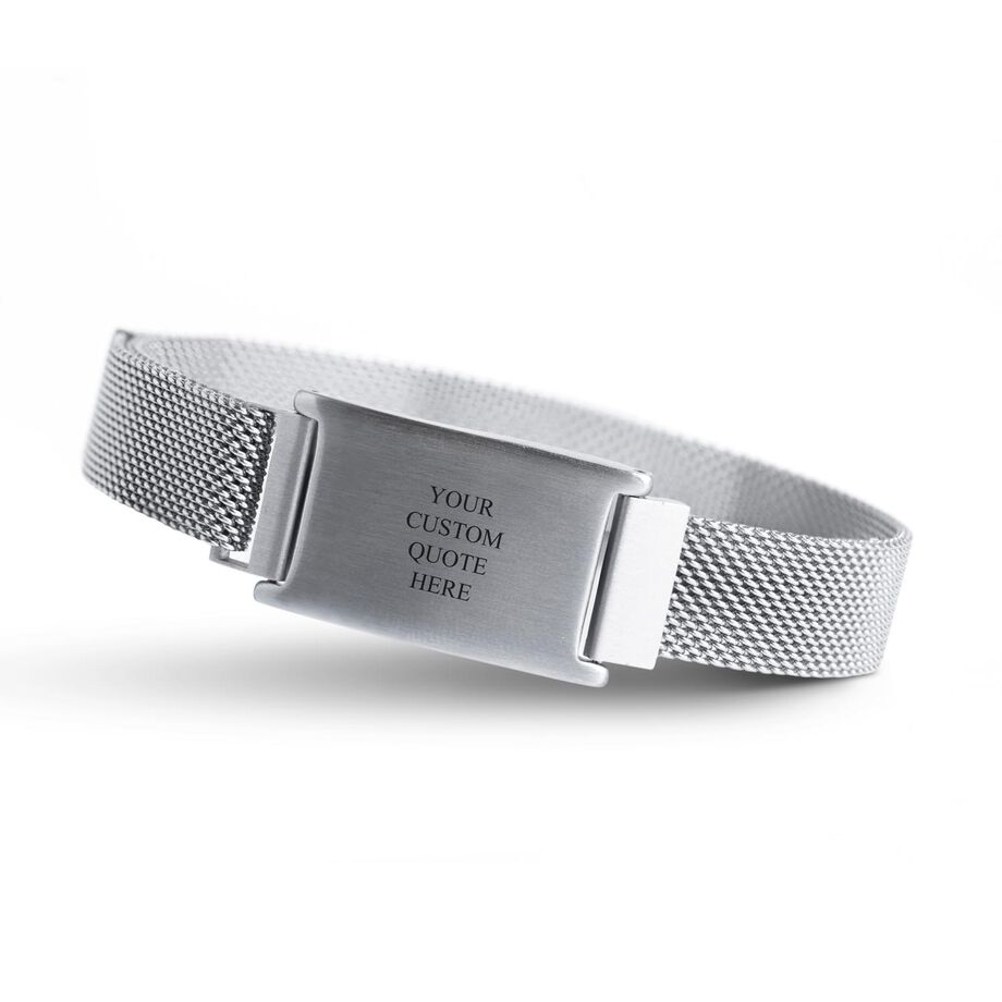 Personalized Adjustable Stainless Steel Magnetic Bracelet - Custom Quote