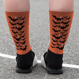 Lacrosse Printed Mid-Calf Socks - Bats with Lacrosse Sticks