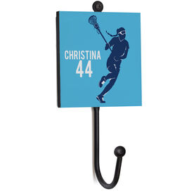 Girls Lacrosse Medal Hook - Player With Name And Number