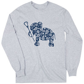 Girls Lacrosse Long Sleeve T-Shirt - Lax Elephant