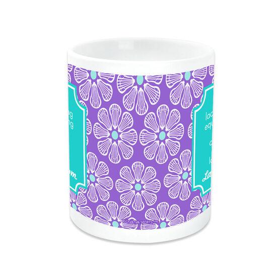 Lacrosse Coffee Mug Mom Poem With 'Fleur De' Pattern