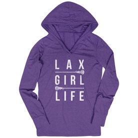 Girls Lacrosse Lightweight Performance Hoodie - Lax Girl Life