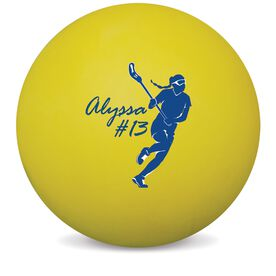 Personalized Lacrosse 'GIRL' Ball (Yellow Ball)