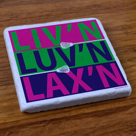 Liv'n Luv'n Lax'n - Natural Stone Coaster