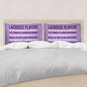 Girls Lacrosse Pillow Case  - Lacrosse Players