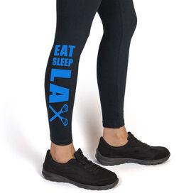 Lacrosse Leggings Eat Sleep Lax