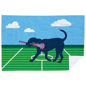 Girls Lacrosse Premium Blanket - LuLa the Lax Dog
