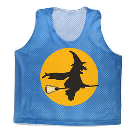 Girls Racerback Pinnie Witch Riding Lacrosse Stick