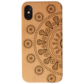 Girls Lacrosse Engraved Wood IPhone® Case - Lacrosse Mandala