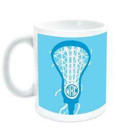 Girls Lacrosse Coffee Mug Monogrammed Lax is Life