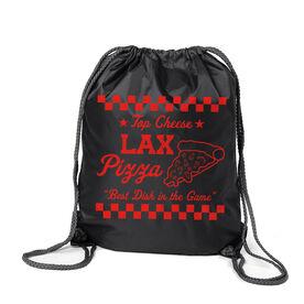 Lacrosse Sport Pack Cinch Sack - Lax Pizza