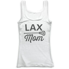 Girls Lacrosse Vintage Fitted Tank Top - Lax Mom