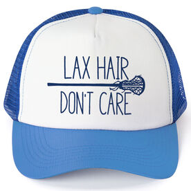 Girls Lacrosse Trucker Hat Lax Hair Don t Care a8d5ef9ccd5b