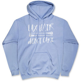 Girls Lacrosse Hooded Sweatshirt - Lax Hair Don't Care